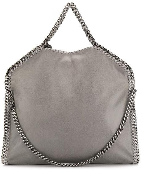 Stella McCartney Falabella fold over tote in grey