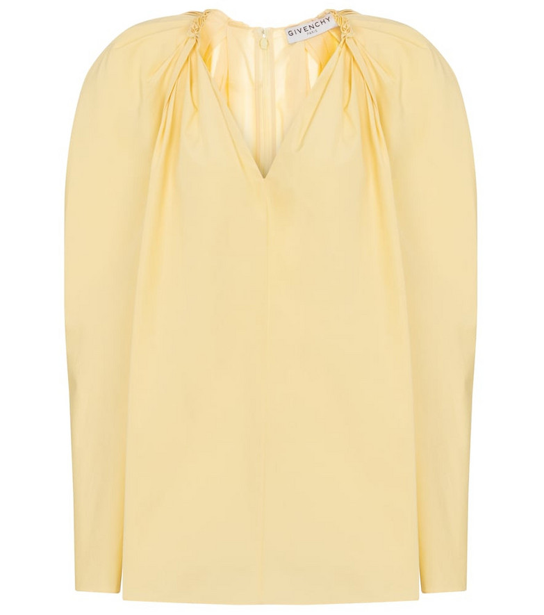 Givenchy Cotton poplin blouse in yellow