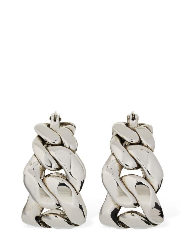 ALEXANDER MCQUEEN Chained Hoop Earrings in silver