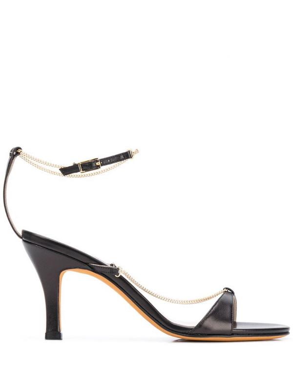 Maryam Nassir Zadeh Aurora chain strap sandals in black