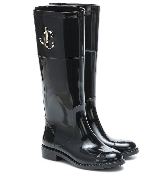 Jimmy Choo Edith rain boots in black