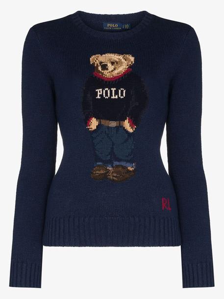 Polo Ralph Lauren Polo Bear crew neck sweater in blue