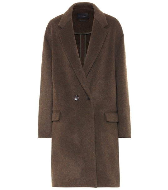 Isabel Marant Wool-blend coat in brown