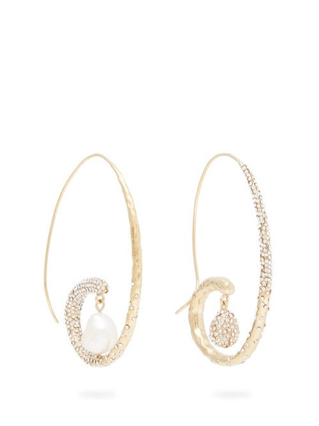 Givenchy - Moonlight Pearl Mismatched Hoop Earrings - Womens - Silver Gold