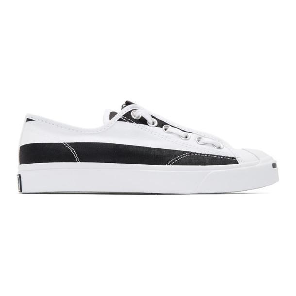 TAKAHIROMIYASHITA TheSoloist. TAKAHIROMIYASHITA TheSoloist. White & Black Converse Edition Jack Purcell Zip Sneakers
