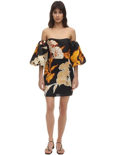 JOHANNA ORTIZ Printed Organza Mini Dress