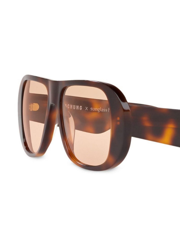 Alexa Chung x Sunglass Hut curved frames sunglasses in brown