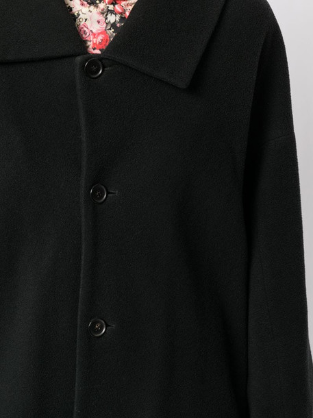 Comme Des Garçons Pre-Owned single-breasted midi coat in black