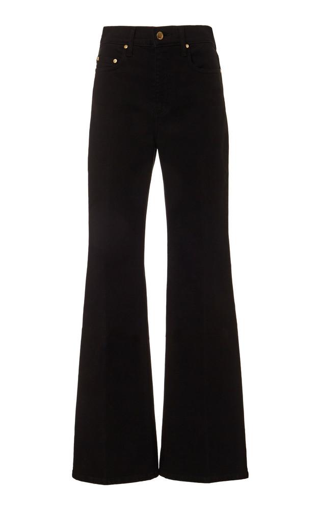 Nobody Denim Jacqueline High-Rise Flared Jeans in black