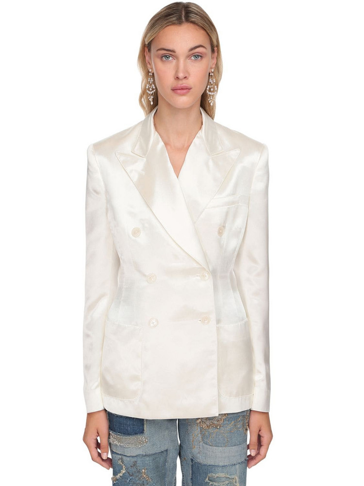 RALPH LAUREN COLLECTION Double Breasted Jacket in white