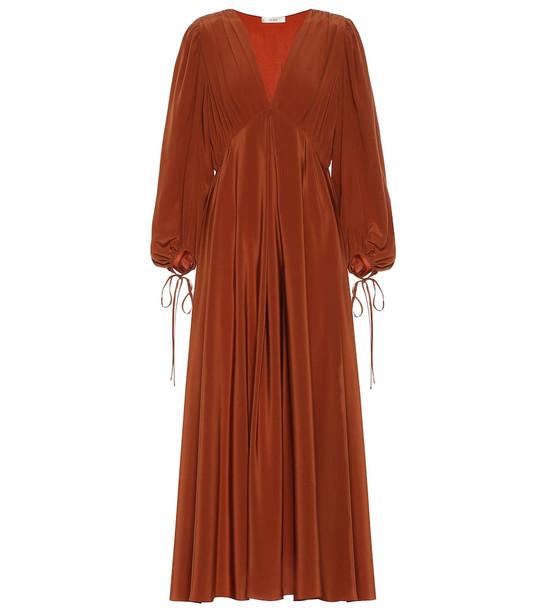 The Row Sante silk-crêpe maxi dress in orange