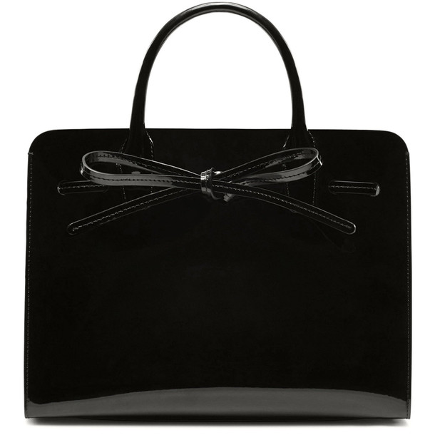 Mansur Gavriel Patent Mini Sun Bag - Black