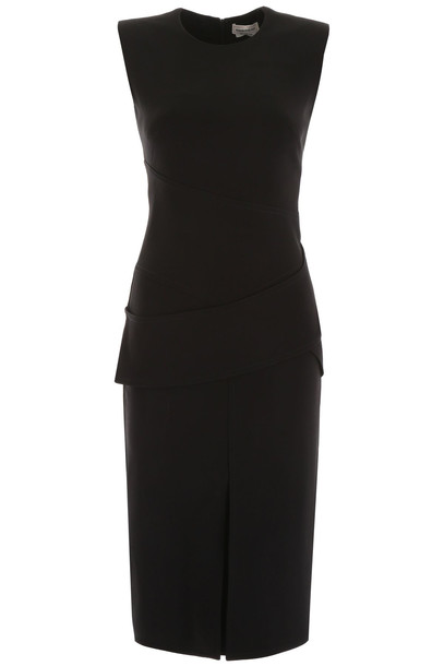 Alexander McQueen Midi Dress in black