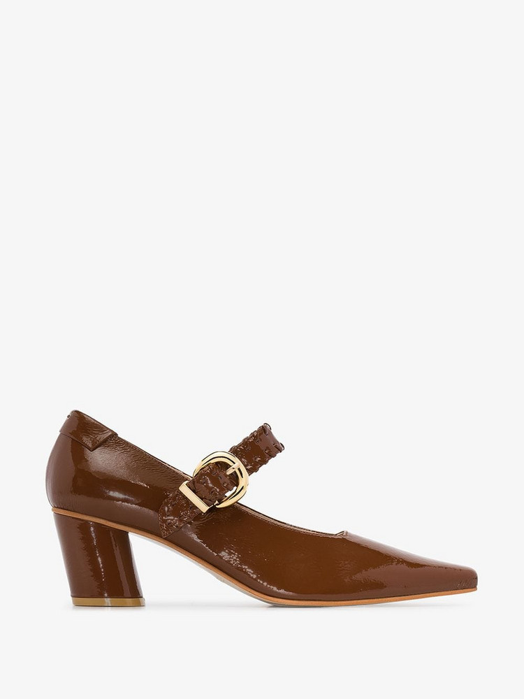 Reike Nen Patent Leather Mary Jane 60 Pumps in brown