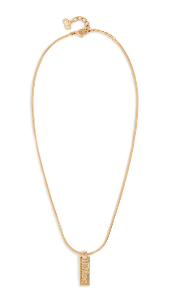 What Goes Around Comes Around Small Dior Necklace in gold / yellow