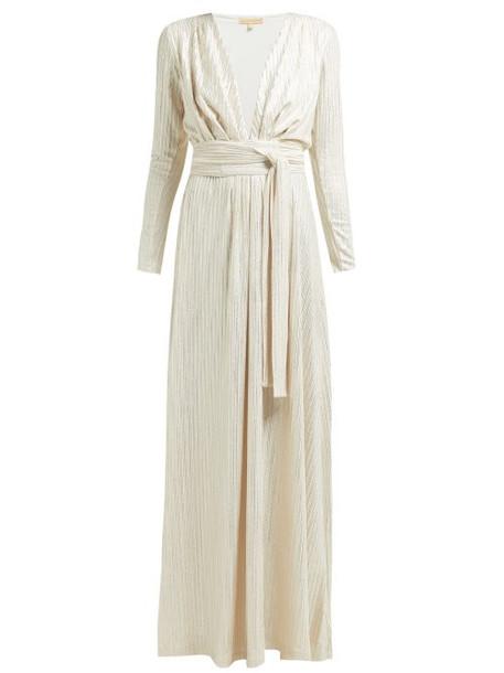 Melissa Odabash - Iman Tie Waist Lamé Dress - Womens - Gold