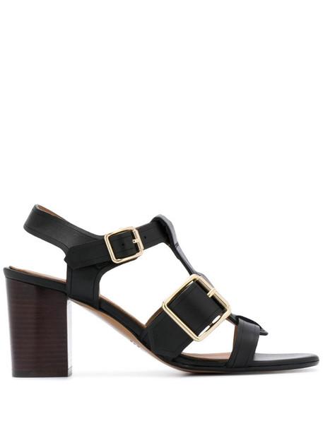 A.P.C. buckle-embellished sandals in black