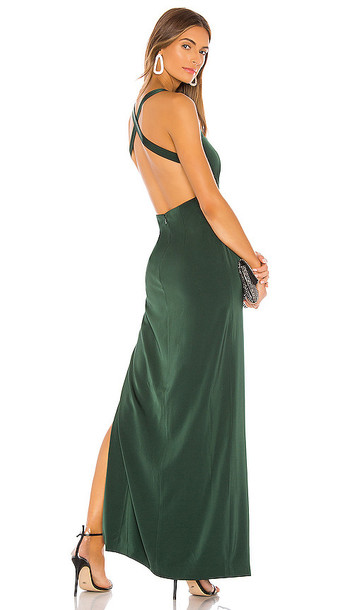 NBD Jill Gown in Dark Green