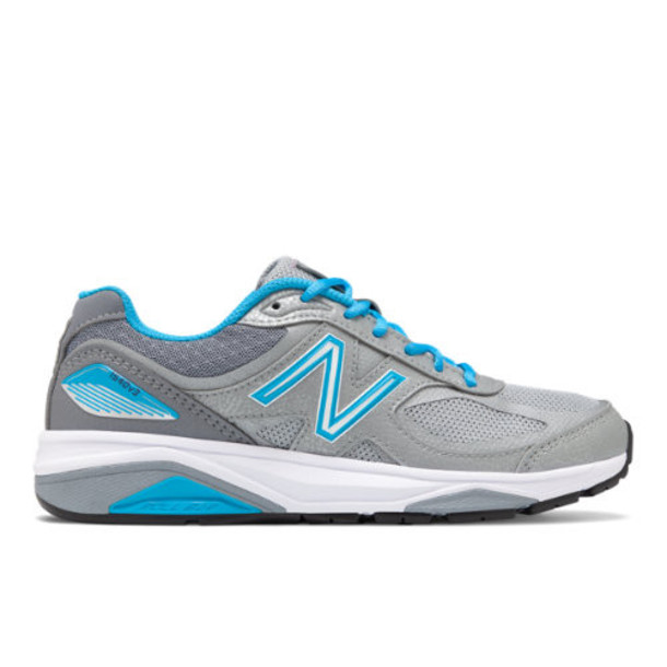 New Balance 1540v3 Made in US Women's Motion Control Shoes - Silver/Blue (W1540SP3)