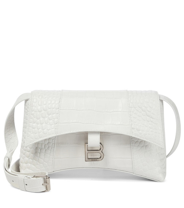 Balenciaga Hourglass Sling leather shoulder bag in white
