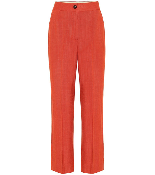 Blazé Milano Brumby high-rise straight pants in red