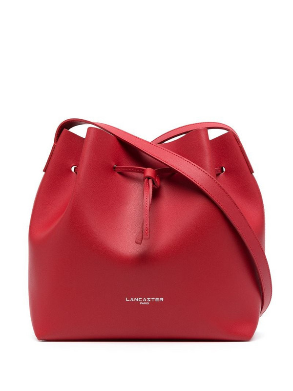 Lancaster small City bucket bag in red