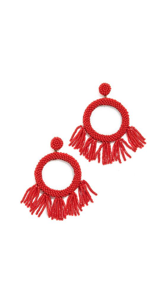 Deepa Gurnani Teeganx Earrings in red