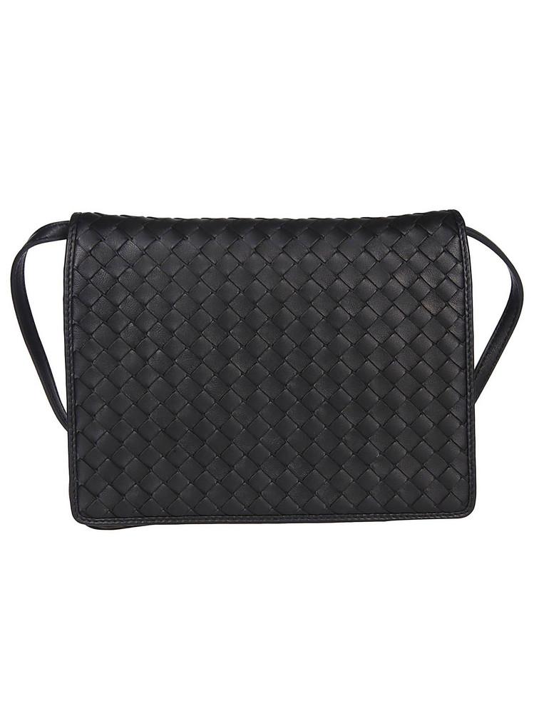 Bottega Veneta Woven Shoulder Bag in black