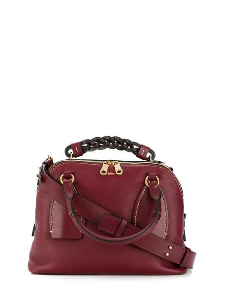 Chloé medium Daria tote bag in red