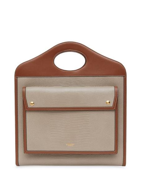 Burberry medium pocket bag in tan