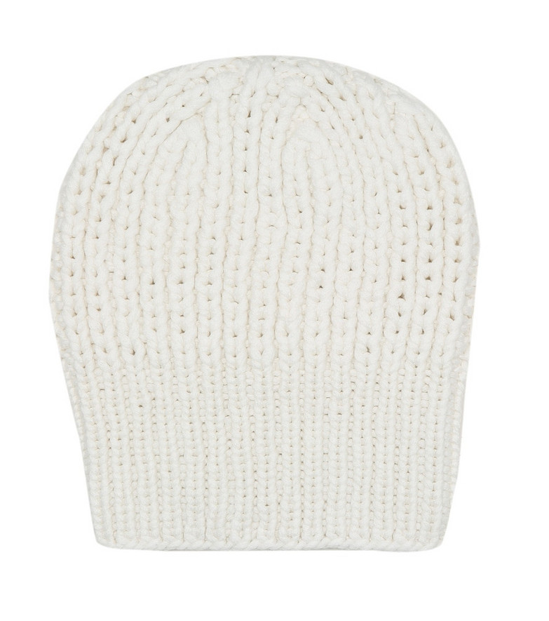 The Row Ayfer cashmere beanie in white