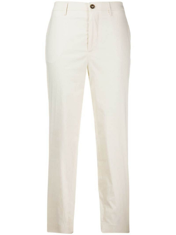 Berwich Chicca cropped trousers in white