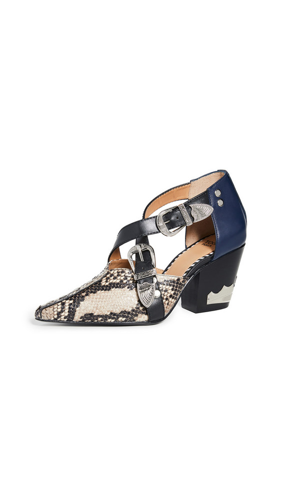 Toga Pulla Heeled Buckle Pumps in natural