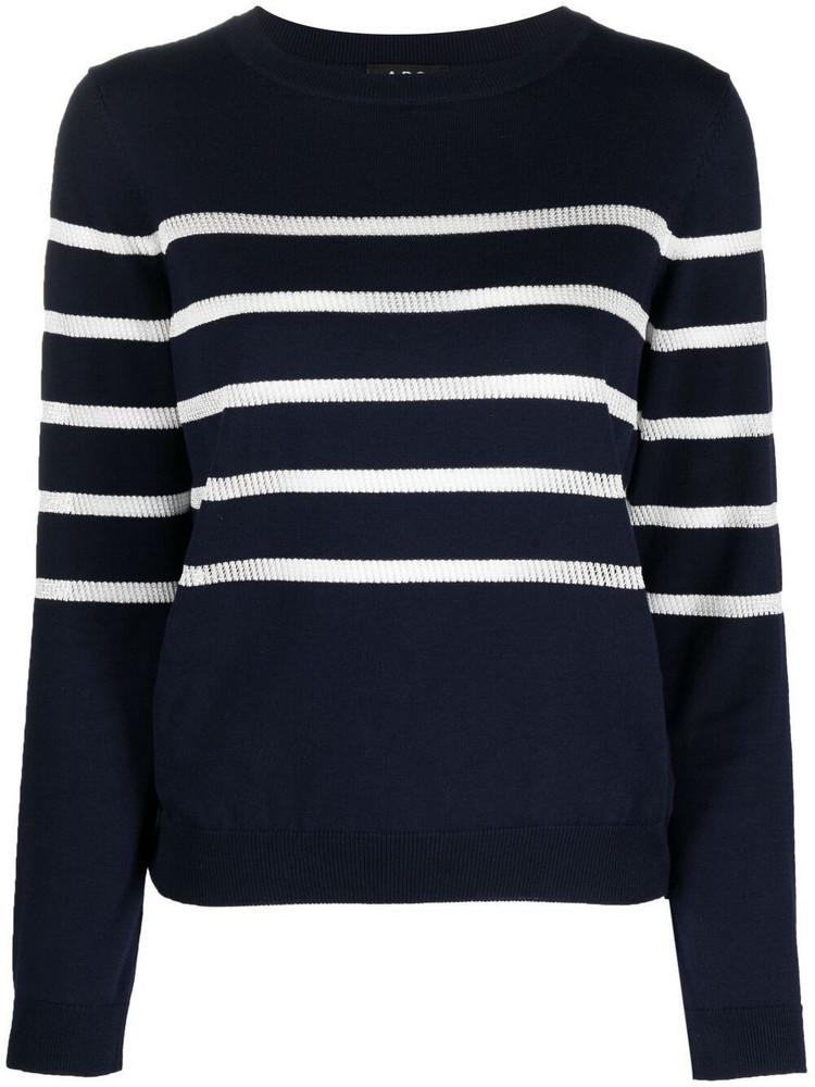 A.P.C. A.P.C. striped long-sleeve jumper - Blue