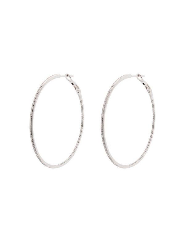 Dana Rebecca Designs 14kt white gold diamond hoop earrings in metallic