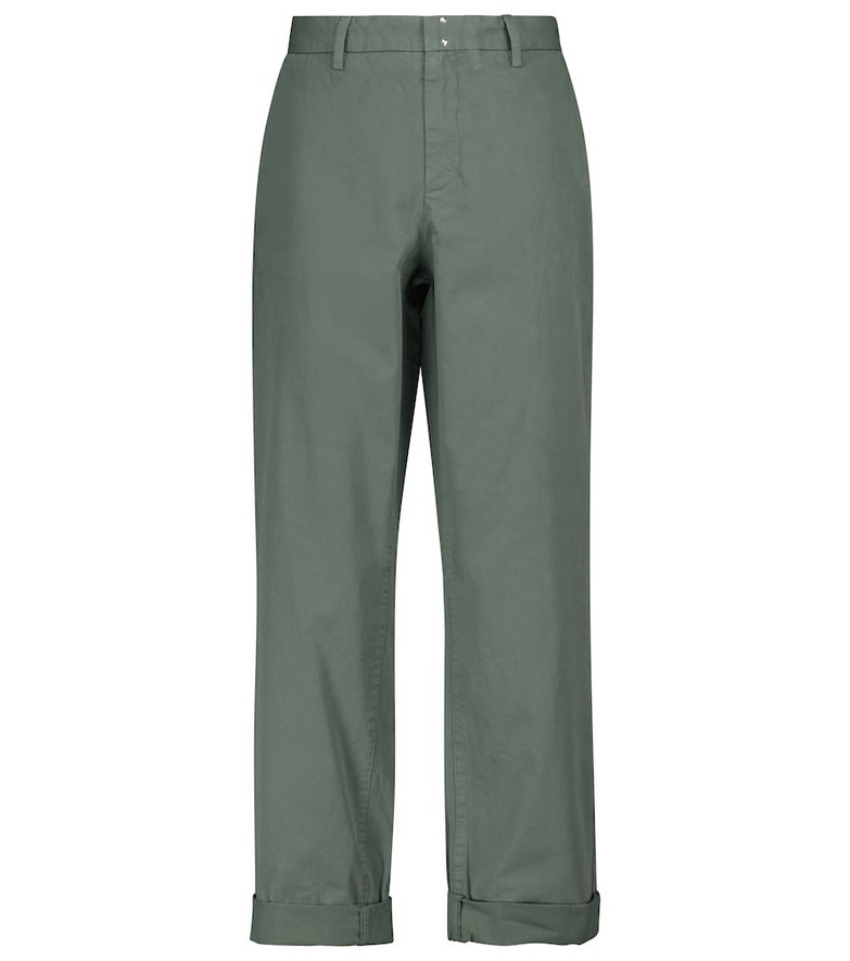 A.P.C. Gaëlle low-rise straight cotton pants in green