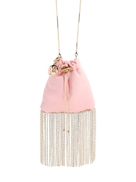ROSANTICA Fatalina Crystal Fringe Bag in pink