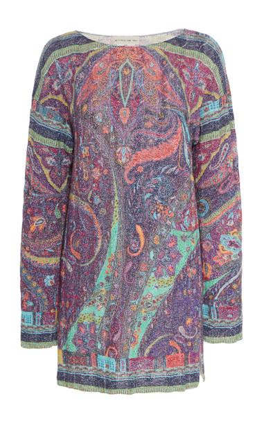 Etro Paisley Knit Tunic in multi