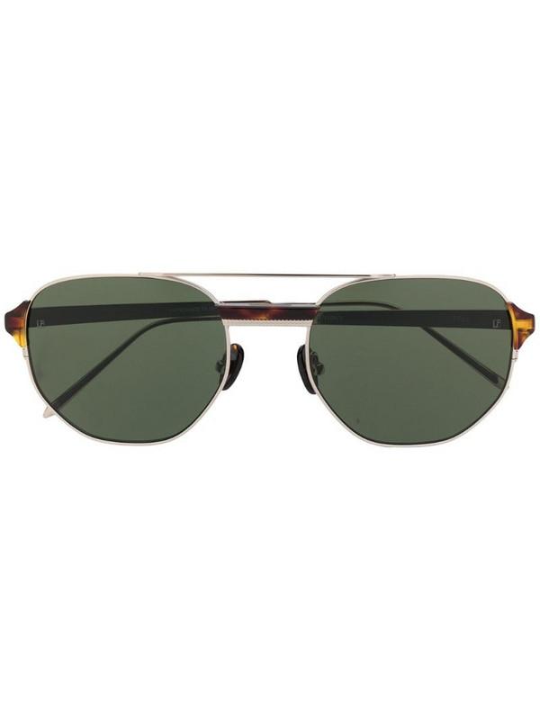 Linda Farrow 1108 aviator sunglasses in gold
