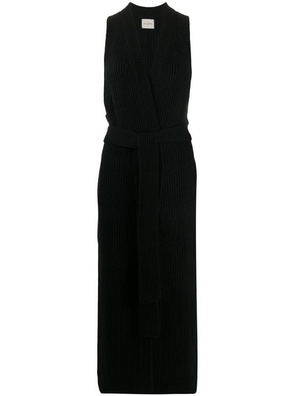Le Kasha Roslyn long-line cardigan in black