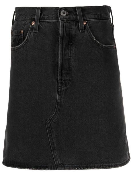 Levi's high-waist denim skirt in grey