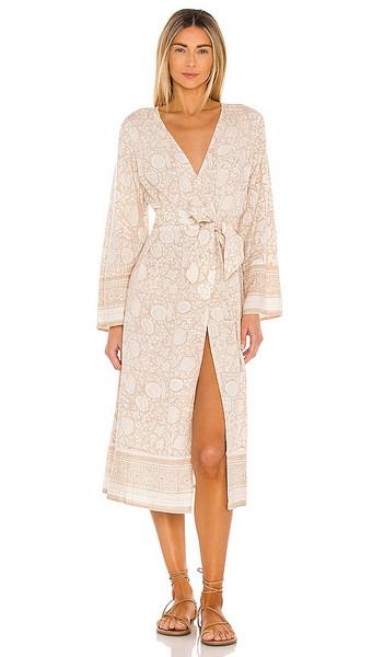 Cleobella Garnet Midi Kimono in Neutral in print