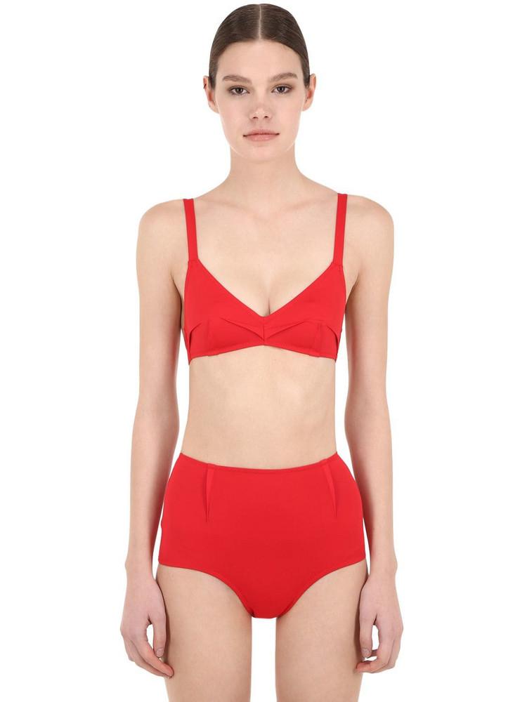 LAURA URBINATI High Waist Lycra Bikini in red