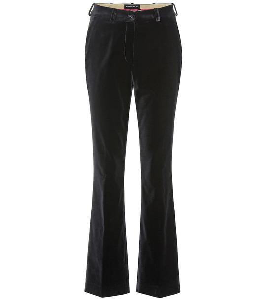 Etro Velvet flared pants in black