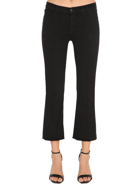J BRAND Mid Rise Selena Cropped Denim Jeans in black