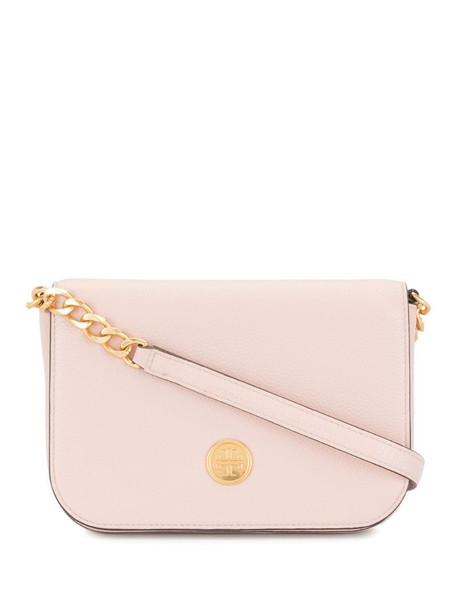 Tory Burch chain-link foldover satchel in pink
