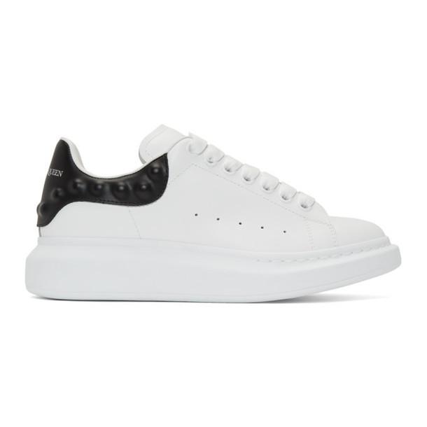 Alexander McQueen White & Black Studded Oversized Sneakers
