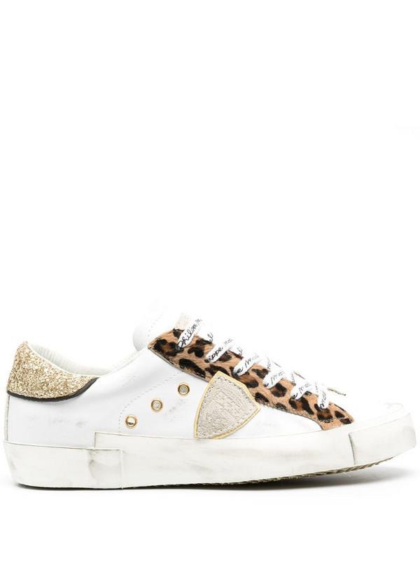 Philippe Model Paris Prsx Glitter Animalier low-top sneakers in white