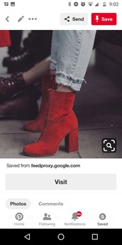 shoes,red heeled boots