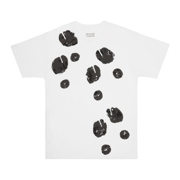 Maison Margiela SSENSE Exclusive White Tabi Print T-Shirt